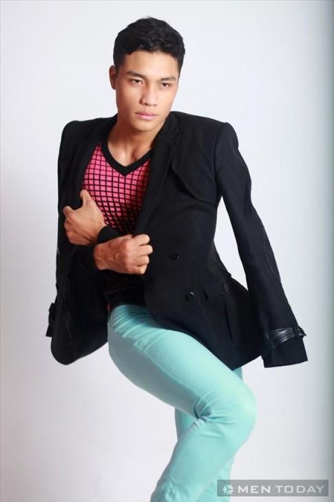 Mạnh Kiên (Vietnam's Next Top Model) trong bst nam thu đông