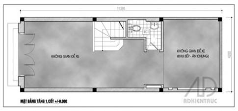Mặt bằng nhà 5 tầng cho thuê