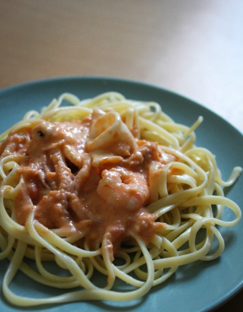 Mì Italy hải sản sốt kem cà chua