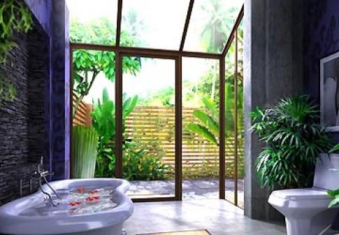 Mở phòng tắm ra thiên nhiên