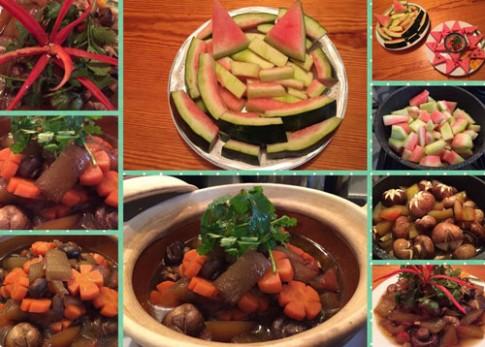 Món ăn độc đáo từ cùi dưa hấu của mẹ Việt ở Bỉ