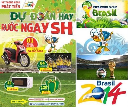 Mua xe và tham gia dự đoán WORLD CUP để có cơ hội sở hữu xe Honda SH 125!!!