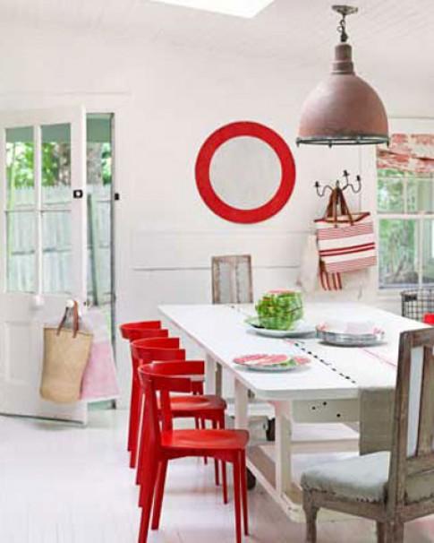 Muôn kiểu phối màu tạo phong cách cho phòng ăn