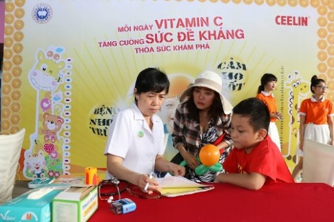 Ngày hội giúp trẻ tăng đề kháng dịch bệnh