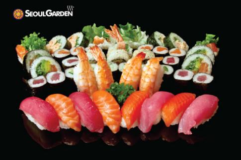 Ngày hội sushi và shasimi tại Seoul Garden