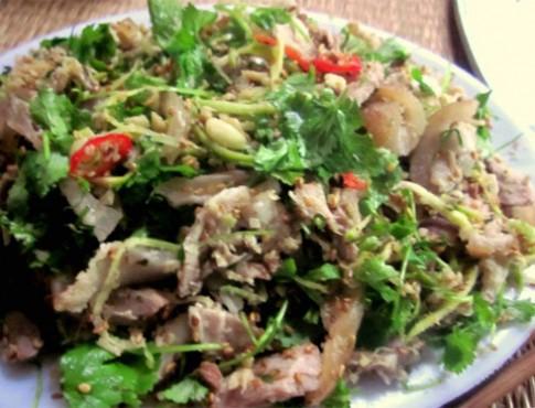 Ngũ vị trong món chạo chân giò Kim Sơn