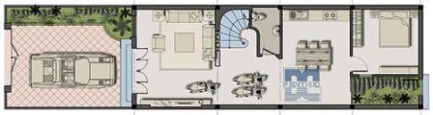 Nhà 2 tầng, mặt tiền 5,5 m