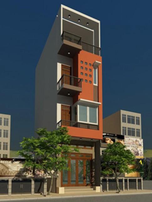 Nhà 3 tầng 4,13 x 15,2 m có gác lửng
