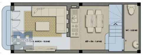Nhà 30 m2, xây 3 tầng