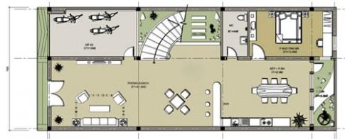 Nhà 5 phòng ngủ 7,5 x 17,5 m