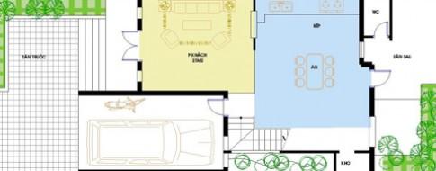 Nhà biệt thự phố trên đất 8 x 20 m
