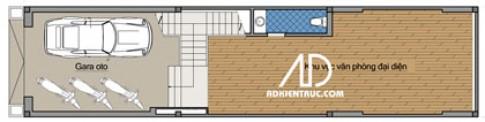Nhà chia lô 80 m2 hẹp và dài