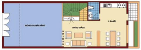 Nhà mặt tiền 6 m, xây 4 tầng