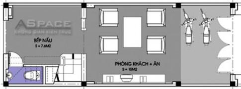 Nhà mặt tiền hẹp 3,8 m