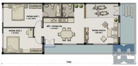 Nhà một tầng 110 m2 cho gia chủ tuổi Mậu Ngọ