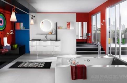 Nhịp điệu màu sắc trong phòng tắm