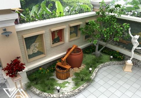 Những giải pháp cho sân vườn rộng 5 m2
