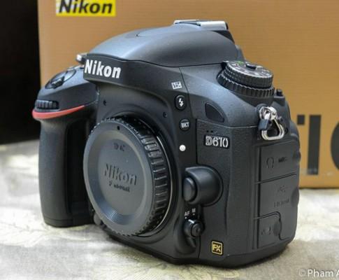 Nikon D610 giá gần 40 triệu đồng ở Việt Nam