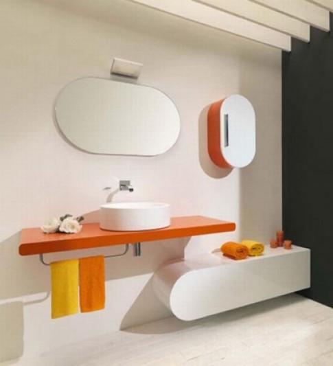 Nội thất khác lạ tạo sự vui nhộn cho phòng tắm