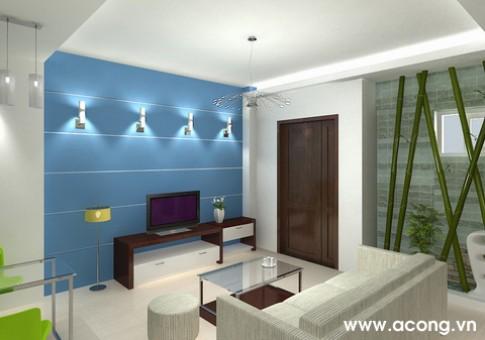 Nội thất phòng khách trong căn hộ dưới 100 m2