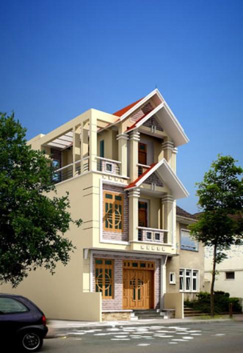 Phối hợp màu sắc và chất liệu cho mặt tiền ngôi nhà