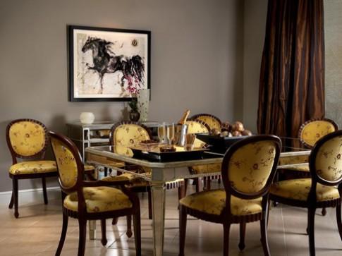 Phòng ăn đa phong cách với nội thất gỗ