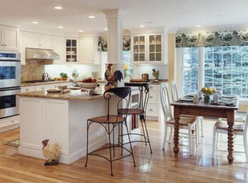 Phòng bếp trang nhã với màu trắng
