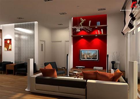 Phòng khách nhỏ ở chung cư