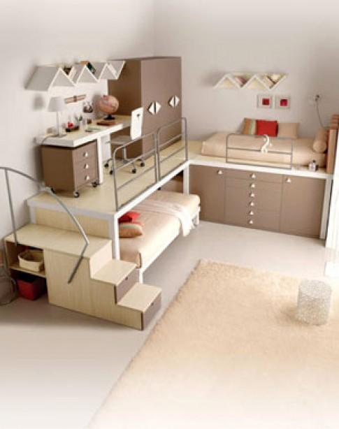 Phòng ngủ '2 in 1' nơi không gian hẹp