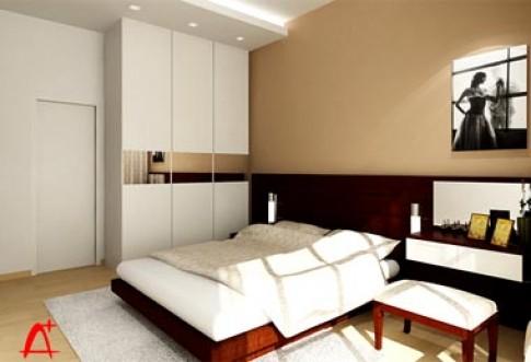 Phòng ngủ lớn ở căn hộ chung cư