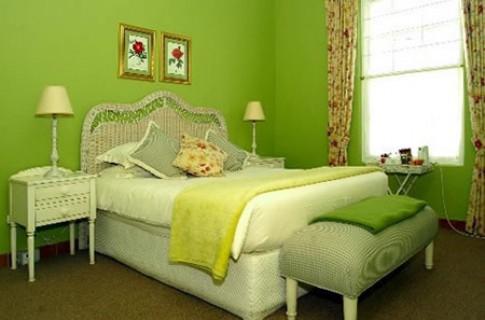 Phòng ngủ màu xanh lá cây lạ mắt