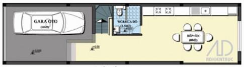 Phong thủy căn nhà 4,2 x 16 m