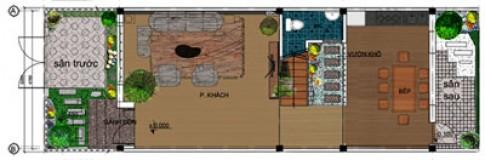 Phong thủy nhà 5 x 11 m