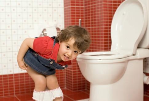 Rèn cho bé thói quen đi vệ sinh