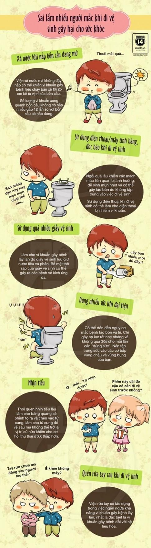 Sai lầm cực nhiều người mắc mỗi khi đi vệ sinh