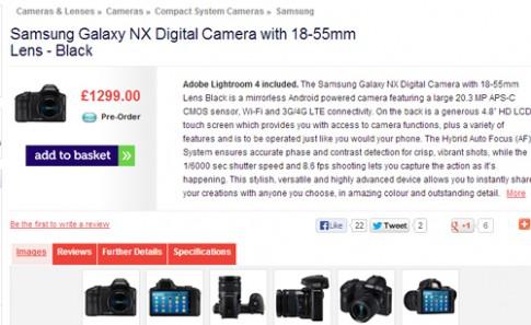 Samsung Galaxy NX có giá hơn 40 triệu đồng tại Anh