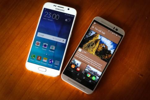 Samsung Galaxy S6 đọ dáng cùng HTC One M9