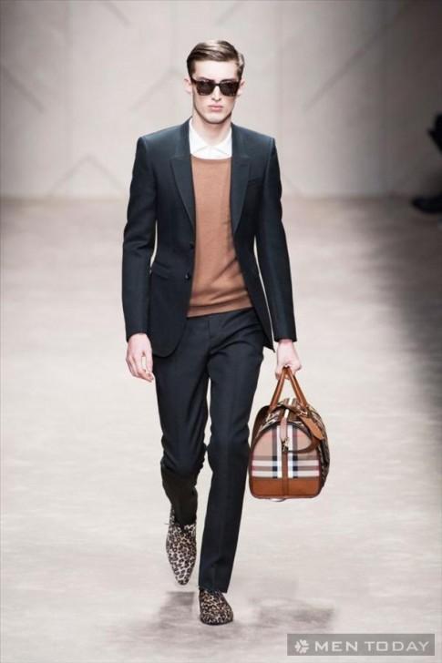 Sang trọng và cá tính với BST thời trang nam thu đông 2013 của Burberry