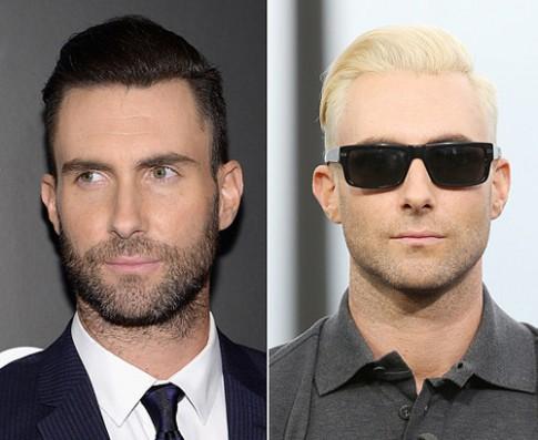 Sao nam đổi khác với hai màu tóc