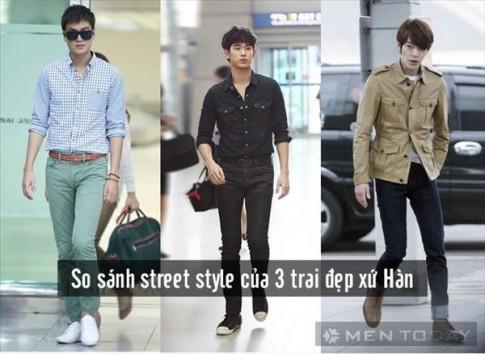 So sánh street style của 3 trai đẹp xứ Hàn