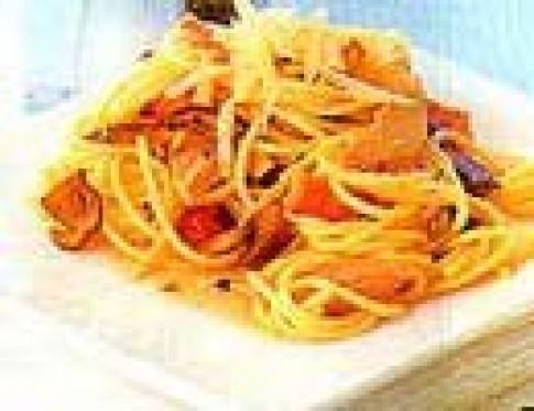 Spaghetti với cà tím