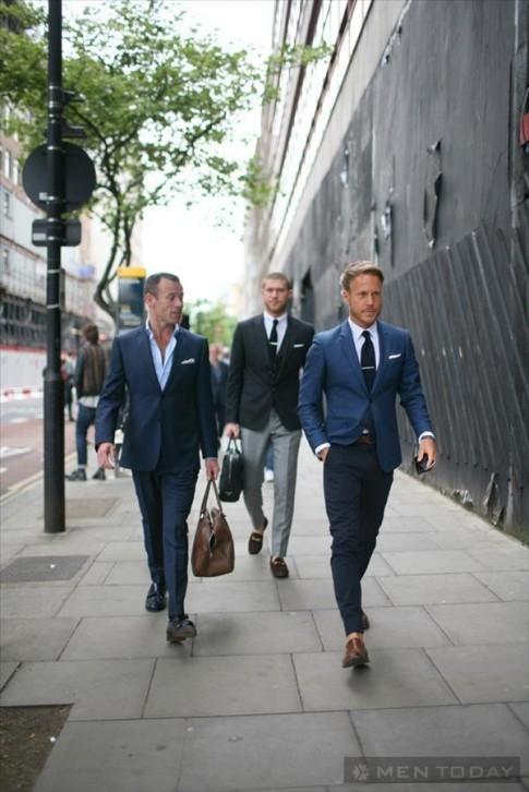 Street style các quý ông bên lề Tuần lễ thời trang xuân hè 2014 London