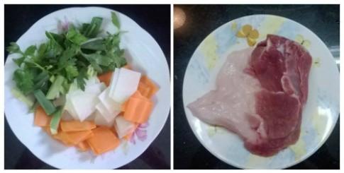 Su hào, cà rốt xào thịt cho ngày lạnh