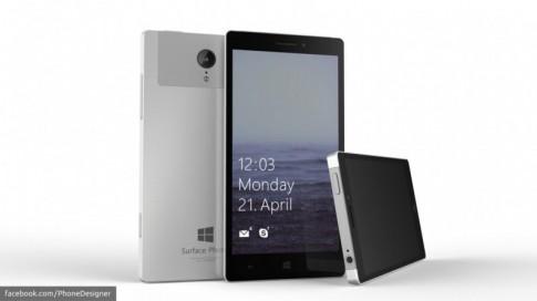 """Surface Mobile rò rỉ cấu hình của mình : màn hình 2K 5,5"""", chip Atom x3, usb-C, Camera 21MP."""