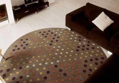 Tạo sức hút với vòng tròn trên sàn