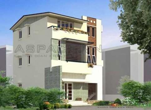 Thiết kế biệt thự phố trên diện tích đất 160 m2