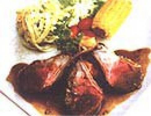 Thịt cừu nướng sốt lá thơm