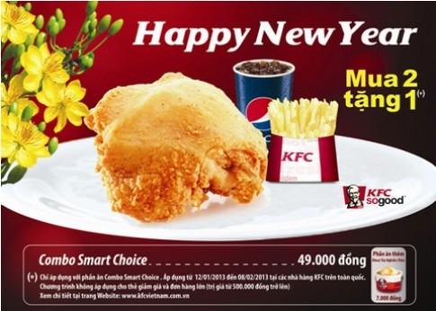 Thưởng thức Smart Choice tại KFC