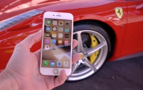 Tra tấn điện thoại bằng ôtô, xe tăng