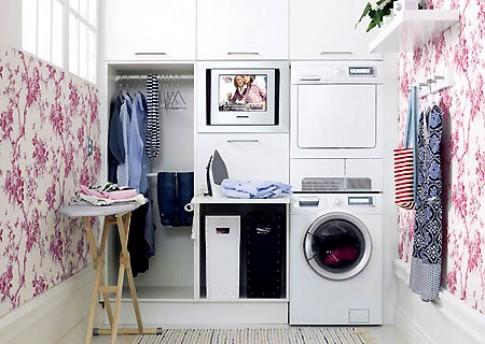 Trang trí và sắp đặt phòng giặt là